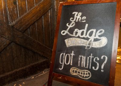 The Lodge 'Got Nuts' Sign