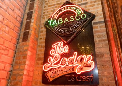 The Lodge Tavern Tabasco Neon Sign